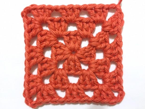 example of a crochet granny square