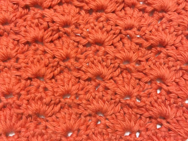 example of the crochet shell stitch