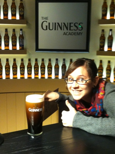 at the Guinness Storehouse, with the pint I poured