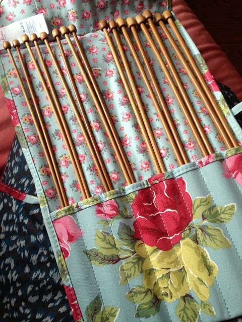 a knitting needle roll (on sale)