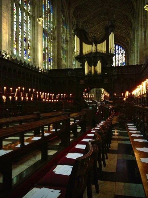 chapel of King's College, where we attended the Christmas Eve Lessons and Carols service
