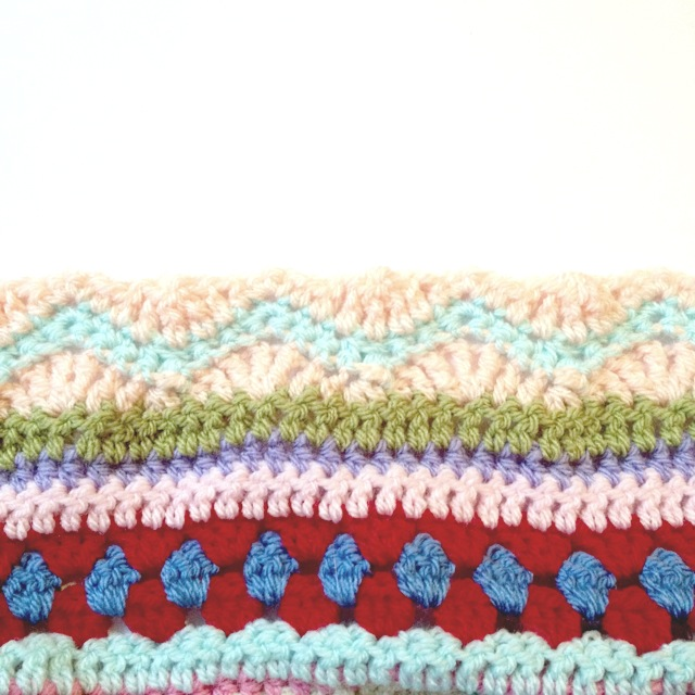 as-we-go stripey blanket – not your average crochet
