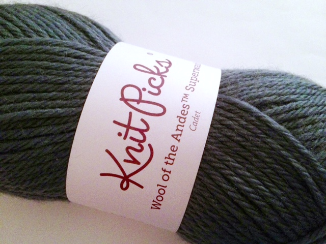 knitpicks wool of the andes superwash in cadet