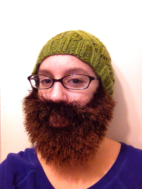 a beard hat and Christmas   not your average crochet