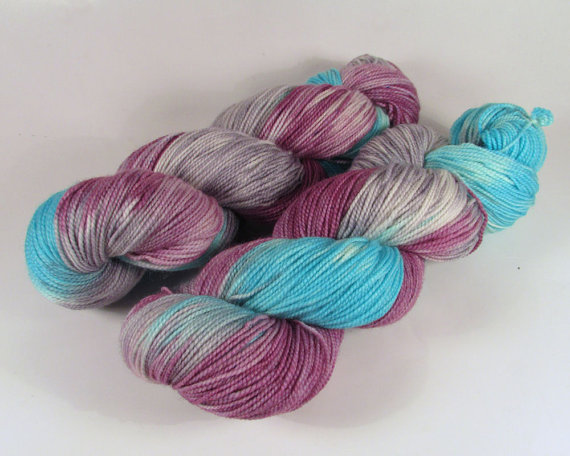 Effie Trinket Nymph Sock Yarn from supernaturalyarns