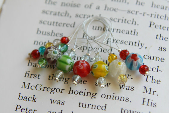 Glass/bead stitch markers