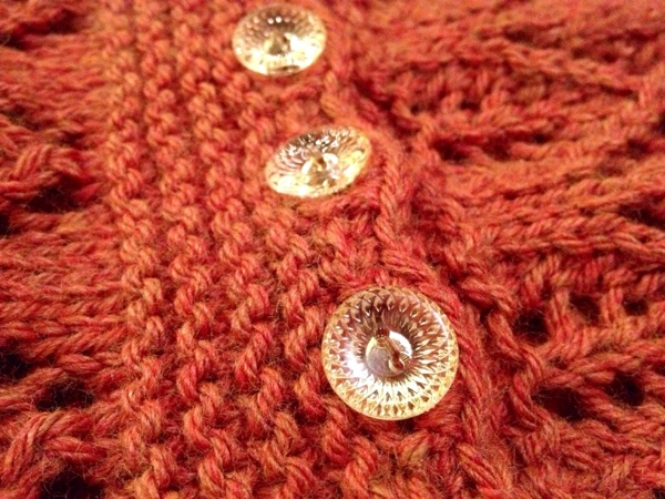 Gothic Lace Cowl - knitted cowl with beautiful buttons!