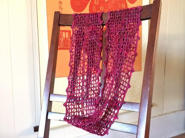 Desert Rose - crochet cowl in a lacy pattern