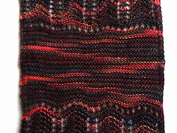 Gentille cowl - garter stitch section
