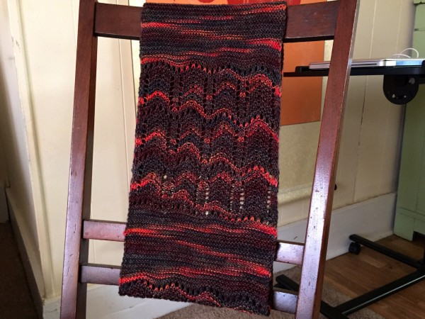 Gentille cowl draped on a chair