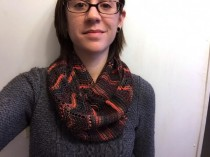 """Gentille"" cowl - a wearable knitted piece with great drape!"