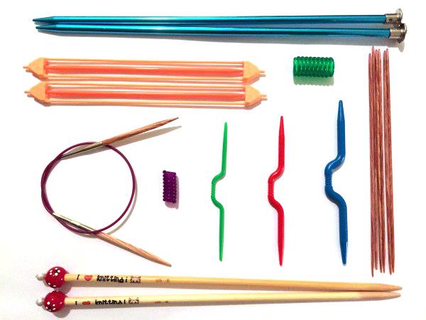 intro to knitting needles