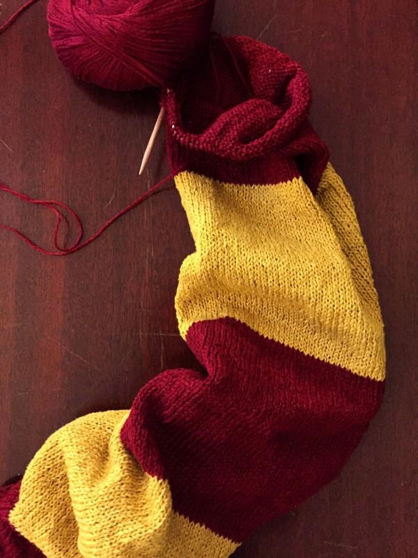 Harry Potter Scarf Wip Progress Not Your Average Crochet