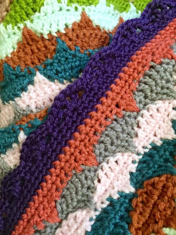 crochet clamshell blanket border