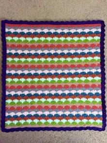 crochet clamshell blanket: ta-da!
