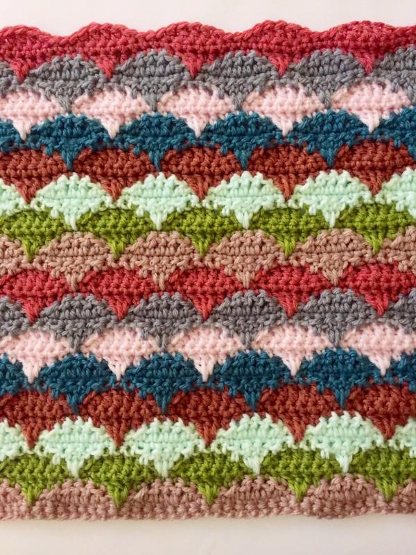 Crochet Clamshell Blanket 2 Reps Done Not Your Average Crochet