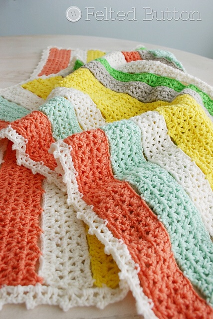 citrus stripe blanket