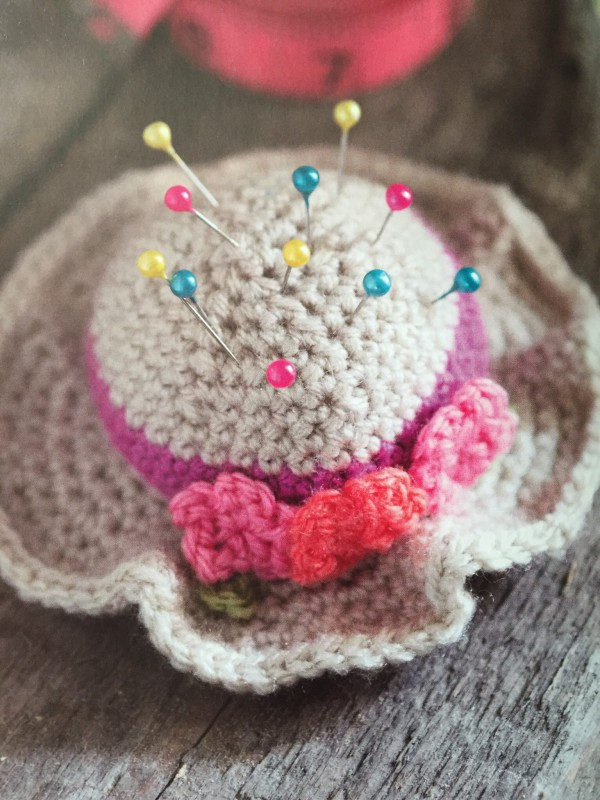 amigurumi hat pincushion