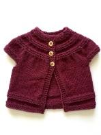 in threes baby cardigan