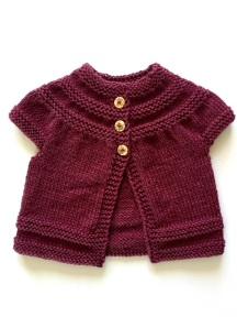 in threes baby cardigan