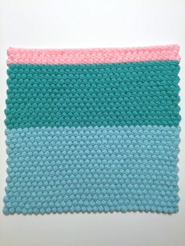 crochet bobble cushion