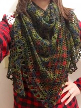 recuerdos de infancia crochet shawl