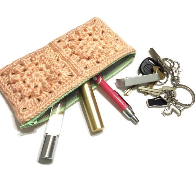 not your granny's granny square clutch