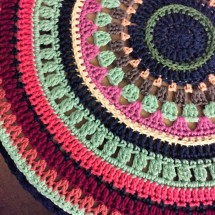 Mandala ottoman cover from Not Your Average Crochet