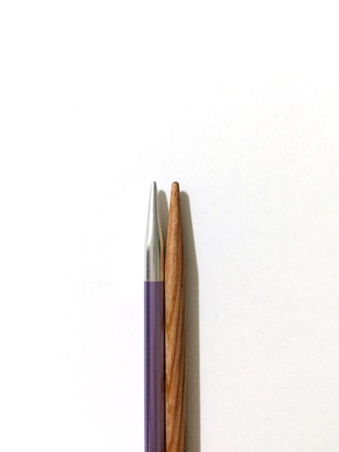KnitPro Zing vs KnitPicks Sunstruck