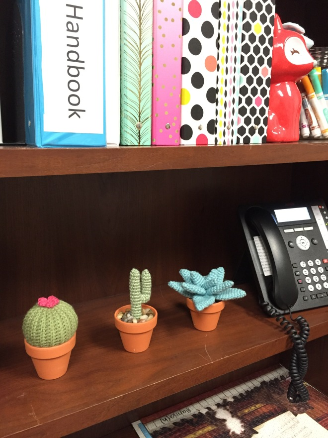 not your average crochet - office cacti