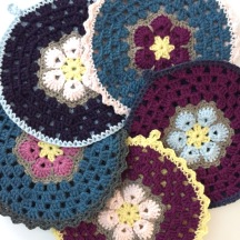 not your average crochet - african flower potholders