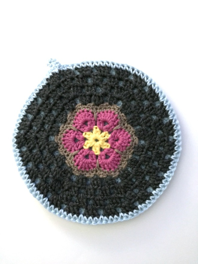 not your average crochet - african flower potholder