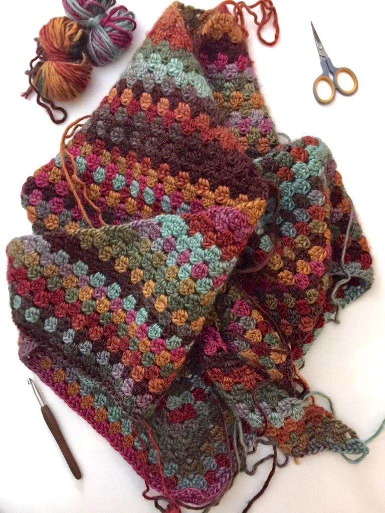 not your average crochet granny shawl