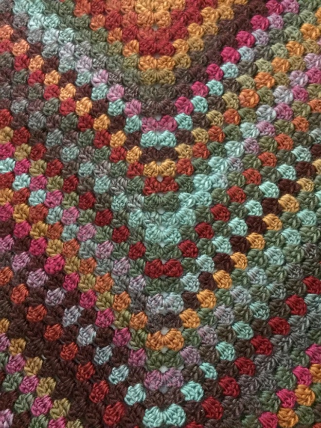 not your average crochet granny shawl
