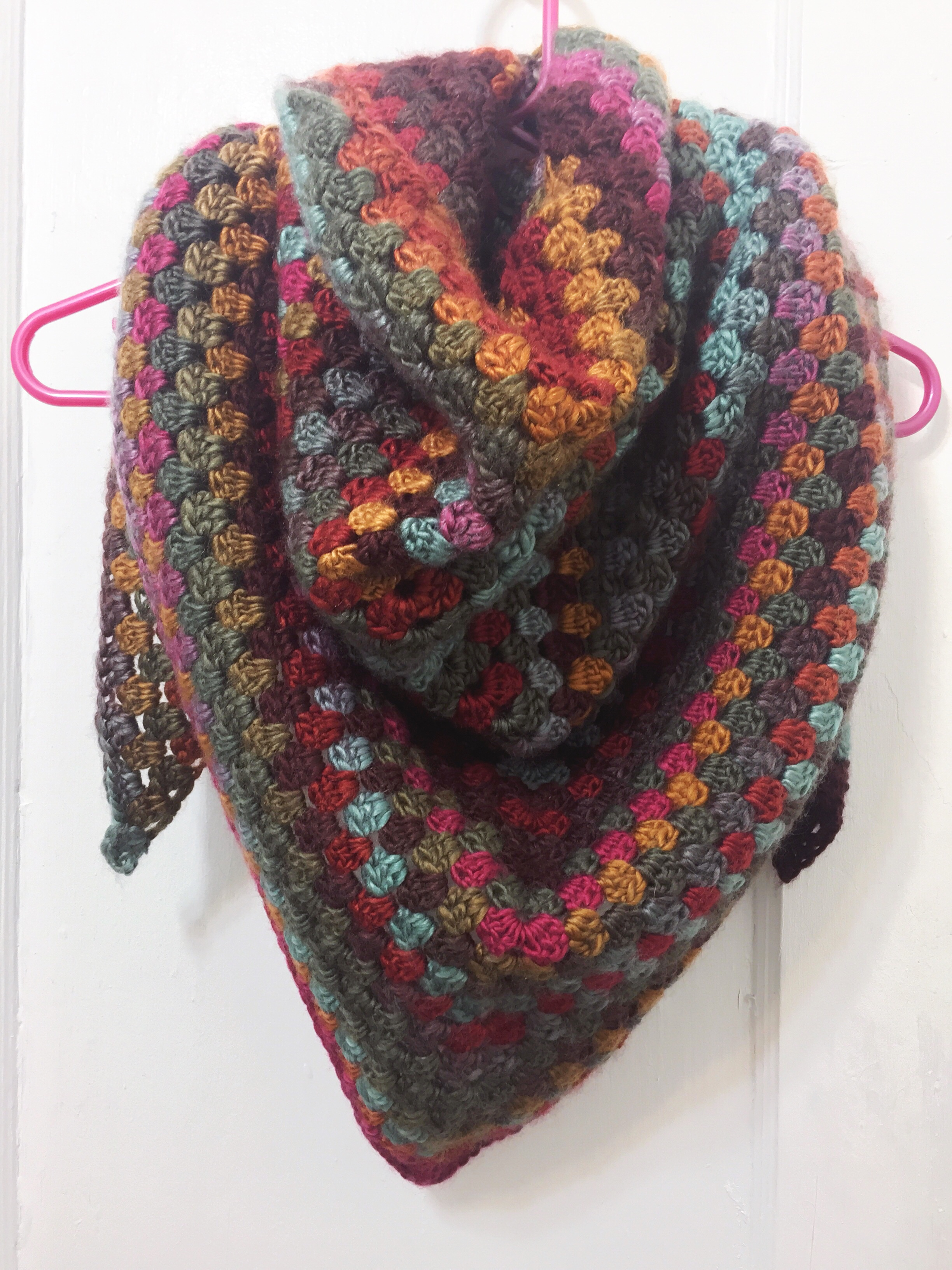 Quick Simple Granny Shawl Not Your Average Crochet