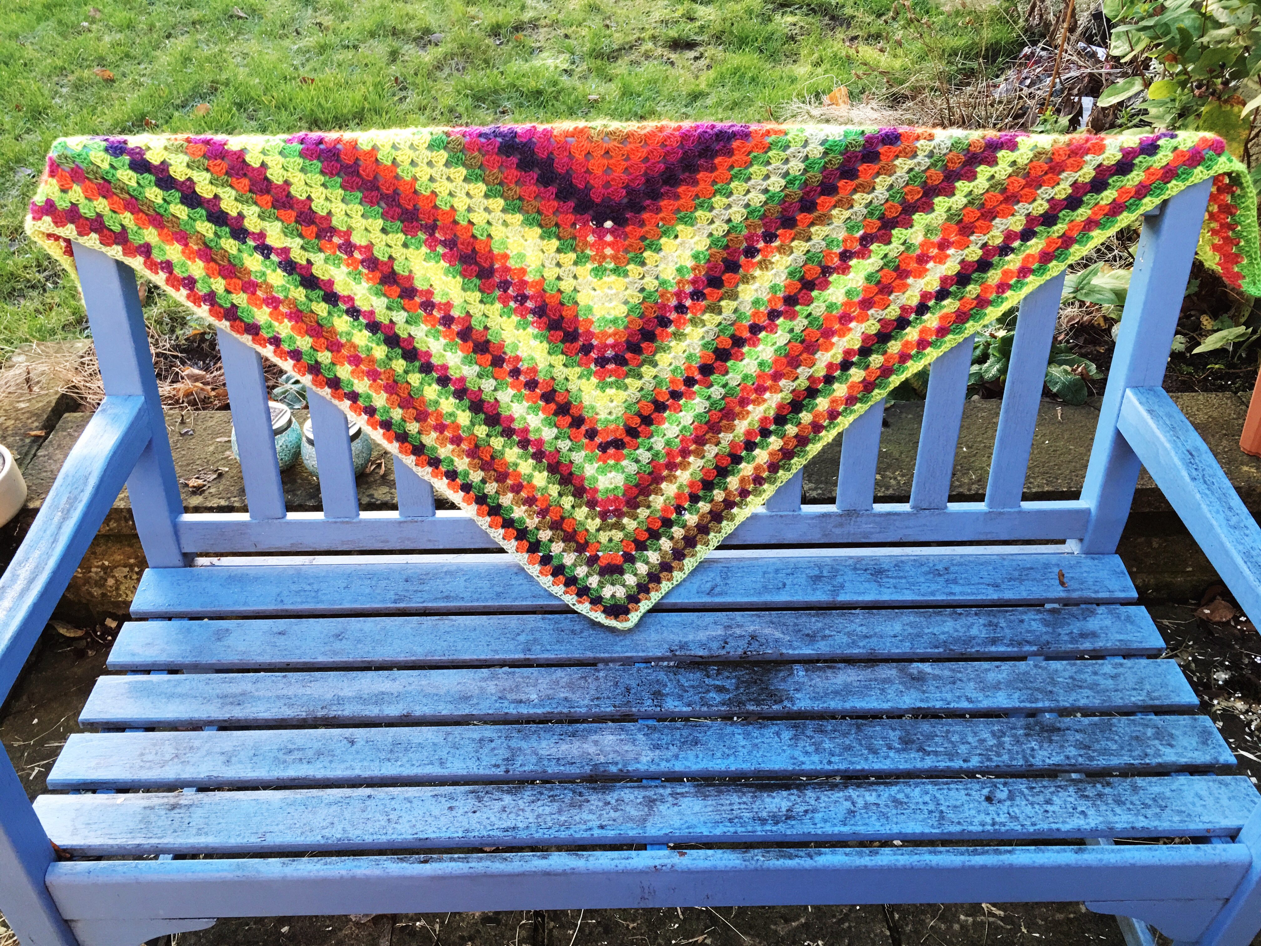 pattern release: quick & simple granny shawl! – not your average crochet